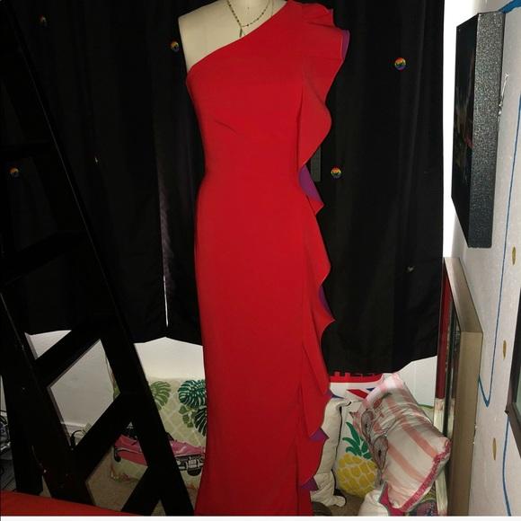 fa4ba988121 Maria Bianca Nero Dresses | One Shoulder Gown W Ruffle | Poshmark
